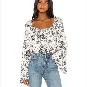 New! Free People One on One Date Bodysuit Sz L